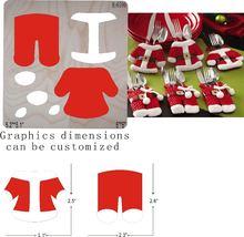 Рождественская одежда аксессуары для высечки деревянная форма