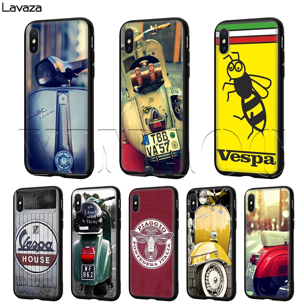 Lavaza Vespa Scooter  Case for iPhone 11 Pro XS Max XR X 8 7 6 6S Plus 5 5s se