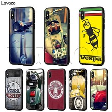 Lavaza Vespa Scooter Case untuk iPhone 11 Pro XS Max XR X 8 7 6 6S PLUS 5 5 S SE(China)