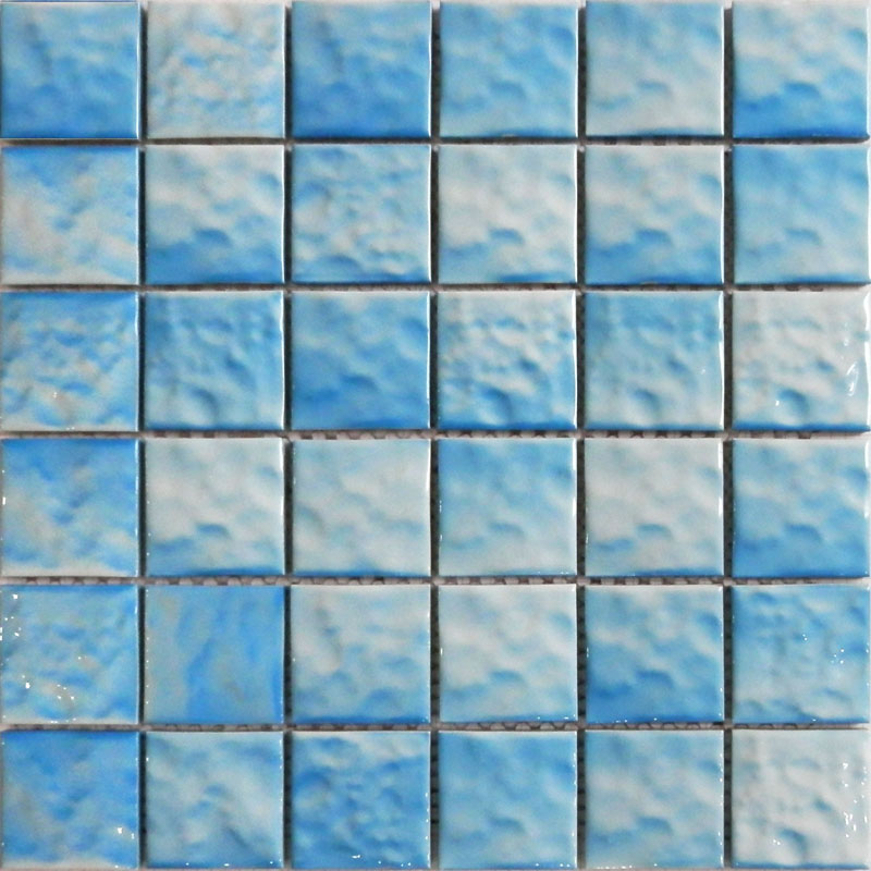 Buy wave pattern ceramic mosaic tile for Swimming pool wall tiles