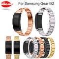 스테인레스 스틸 팔찌 시계 밴드 스트랩 삼성 기어 적합 2 SM-R360 Smartwatch 교체 팔찌 삼성 기어 fit2