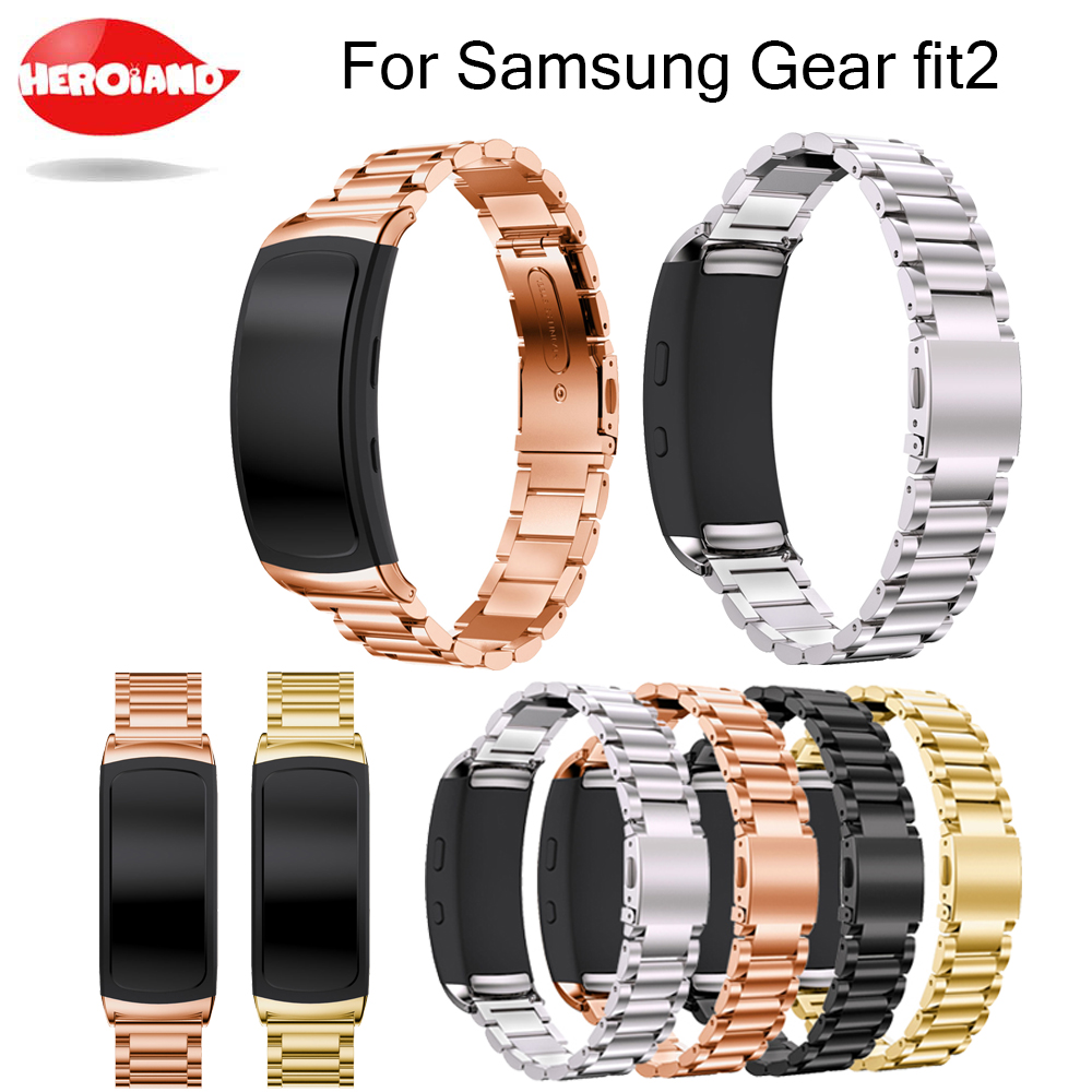 Stainless Steel Bracelet Watch Band Strap For Samsung Gear Fit 2 SM-R360 Smartwatch Replacement Wristband for Samsung Gear fit2 hangrui 316 steel watch band for samsung gear fit 2 pro band wrist strap butterfly buckle for gear fit2 sm r360 smart accessory