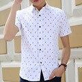 2016 Summer New Slim Fit Roupas Masculina Fashion Print Cotton Shirts For Men