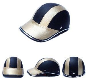 Image 3 - Unisex Motorcycle Half Face Helmet Bike Cycling Helmet casco Protective ABS Leather Baseball Cap gorras de beisbol