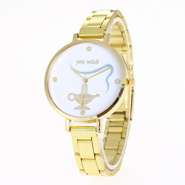 Hot Sale Womenu0027s Watches Aladdinu0027s Lamp Steel Girl Clocks Quartz Wrist  Watch Gold Thin Belt Zegarki