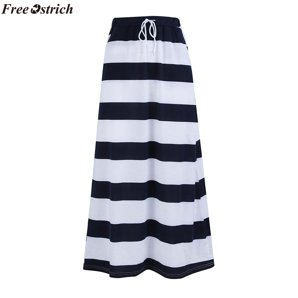 b28c2c4e8d2dc US $6.1 44% OFF|FREE OSTRICH 2019 pencil skirts womens Fashion Stripe Hight  Waist Maxi Long Skirt fashion plus size skirts womens harajuku-in Skirts ...