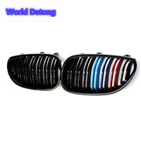 E60 E61 2 Slat Front Grille Kindey Racing Grills For BMW 5 Series E60 E61 2004 2009 520i 525i 528i 530i 535i 550i
