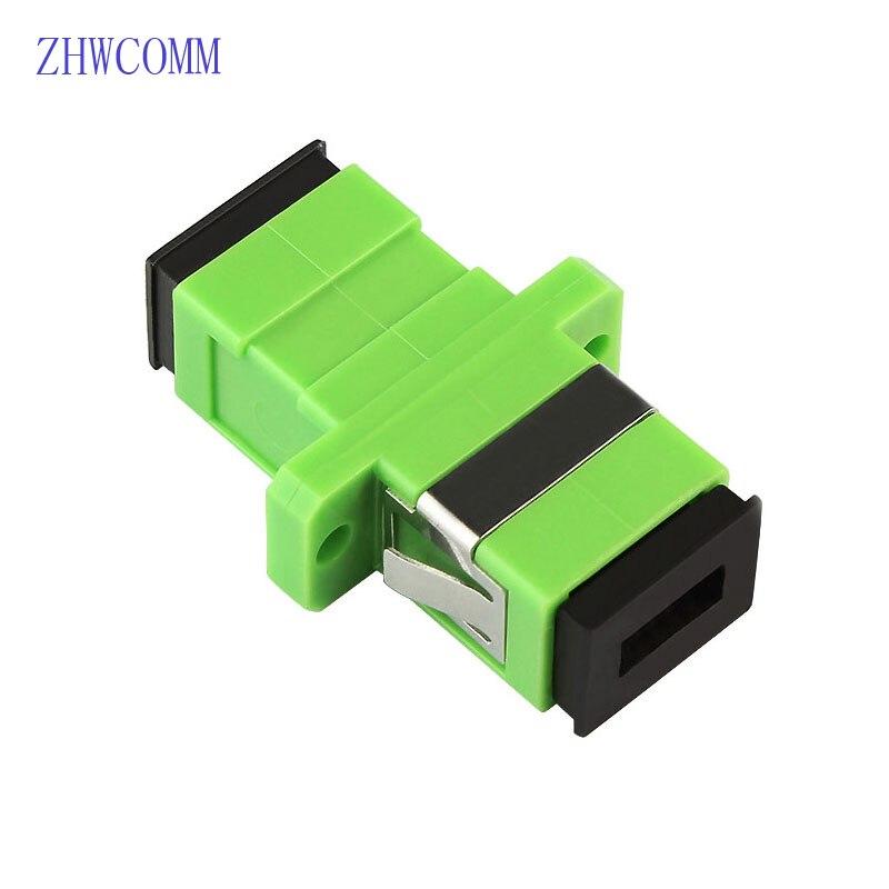 Zhwcomm 200 шт. SC APC Симплекс Волоконно-оптический адаптер Высокое качество sc оптический Волокно муфта Волокно фланец Бесплатная доставка