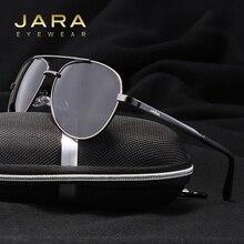 JARA Fashion Polarized Men Classic Pilot Sunglasses Sports Alloy Frame Male Style Driver UV400 Goggles Women Sun Glasses 1306