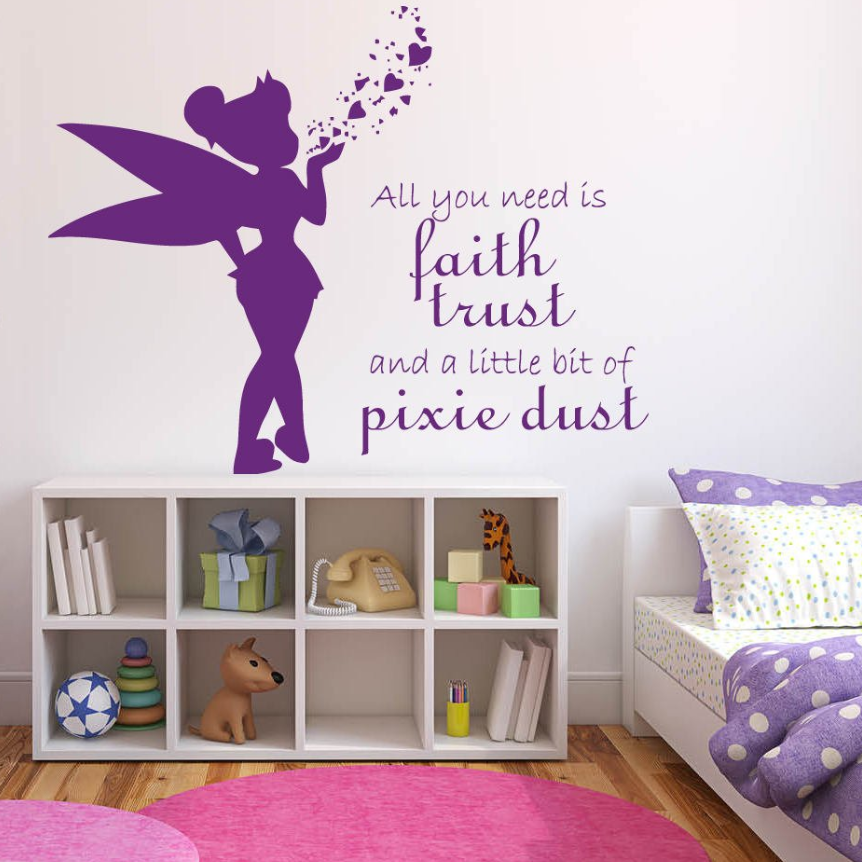 686689eac98c Detail Feedback Questions about Kids Room Decor Peter Pan Wall Art Mural  Never Grow Up Quote Wall Poster Nursery Bedroom Vinyl Art Cartoon Style  Decals ...