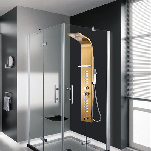 RUSSIA ONLY 304 Stainless steel shower set Shower Panel Waterfall Shower Massage Jets Hand Shower
