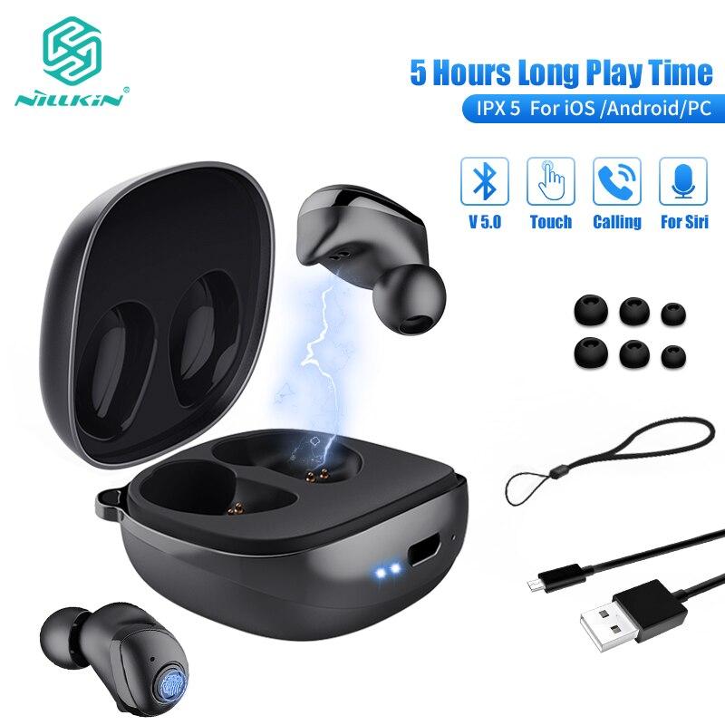 NILLKIN Auto paire TWS sans fil écouteurs Bluetooth 5.0 écouteur IPX5 Sport casque casque contrôle du Volume 750 mAh étui de charge