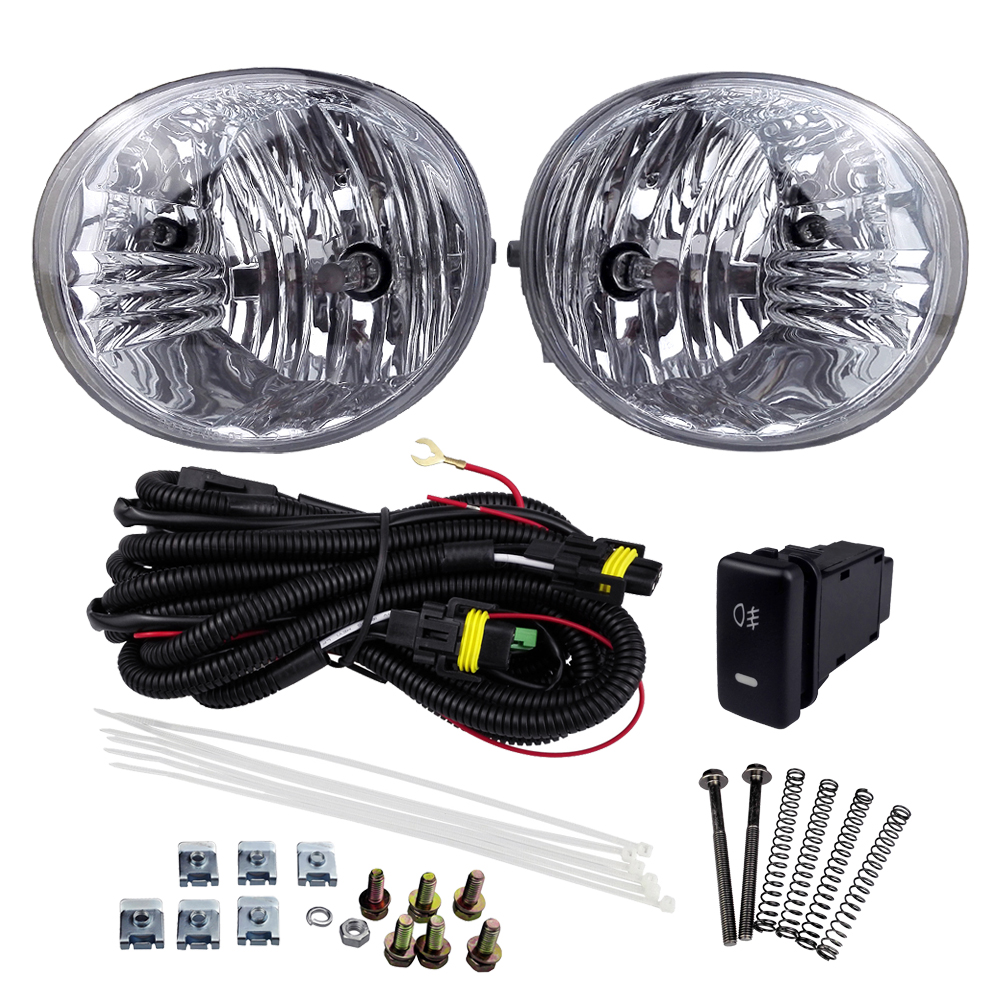 Automobile Styling for TOYOTA RAV4 2004-2005 4300K ABS Plastic Fog Light Assembly 12V 55W Yellow Halogen Lamp Car Front Lights front fog ligh for vauxhall movano vectra zafira 98 12 auto right left lamp car styling h11 halogen light 12v 55w bulb assembly