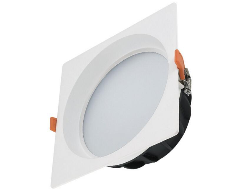 Бесплатная доставка Новые квадратный COB 12 Вт теплый белый высокой Яркость вел потолочный светильник светодиодный утопленный свет AC85 ~ 265 В