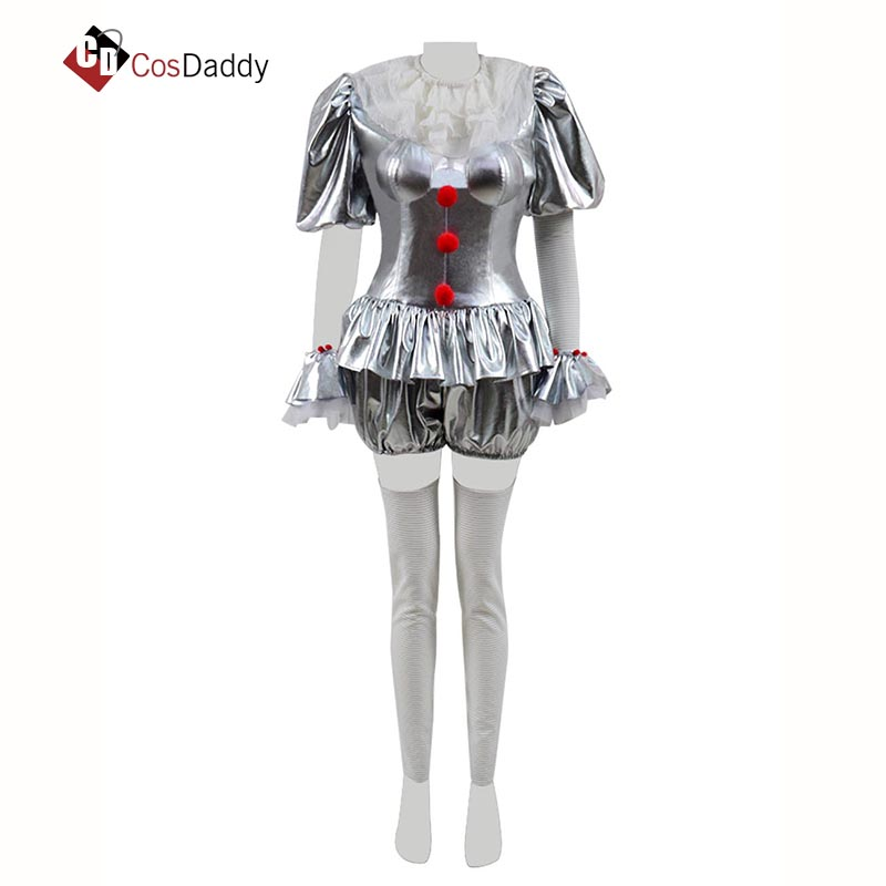 Pennywise Cosplay Costume Stephen King's It Christmas Halloween Outfit Clothes CosDaddy