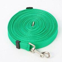 1pcs 1.5m 1.8m 3m 4.5m 6m7m High Quality Nylon Long Pet Dog Leash Training Lead Rope Strap Chain for Daily Walking 5Colors