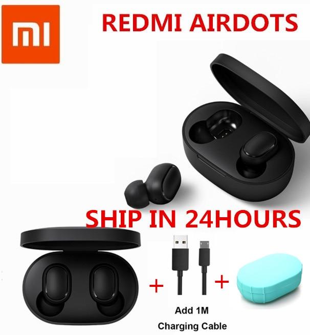 Auf Lager Original Xiaomi Redmi Airdots Wahre Drahtlose Bluetooth 5,0 Kopfhörer Dsp Aktive Geräuschunterdrückung