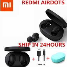 En STOCK écouteurs d'origine Xiaomi Redmi AirDots véritable sans fil bluetooth 5.0 DSP annulation Active du bruit(China)