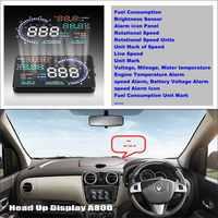 Car HUD Head Up Display Per Renault Lodgy 2012 ~ 2016-Car Visualizzazione Sullo Schermo Del Computer Proiettore Refkecting Parabrezza