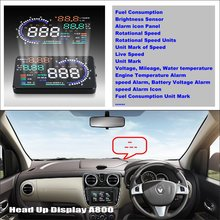 Car HUD Head Up Display For Renault Lodgy 2012~2016 - Saft Driving Screen Projector Refkecting Windshield car hud head up display for bmw 7 e65 e66 e67 e68 f01 f02 refkecting windshield screen saft driving screen projector