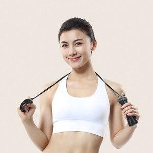 Image 4 - Xiaomi YUNMAI sauter corde à sauter une pièce portant Double câble métallique bloc de métal lourd corde à sauter exercice équipement de sport