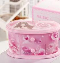 Hot selling Creative dancing Princess spinning jewelry music box decoration child girls happy birthday gifts qy589