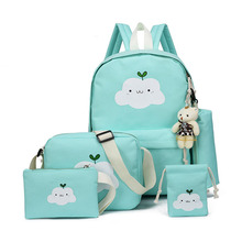 купить 2018 New Fashion Nylon Backpack Cute Cloud Printing Schoolbags School For Teenagers Casual Children Rucksack Travel Bags дешево