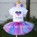 Фантазия infantil хэллоуин пушистые девушки ручной туту тюль юбки для детей юбка