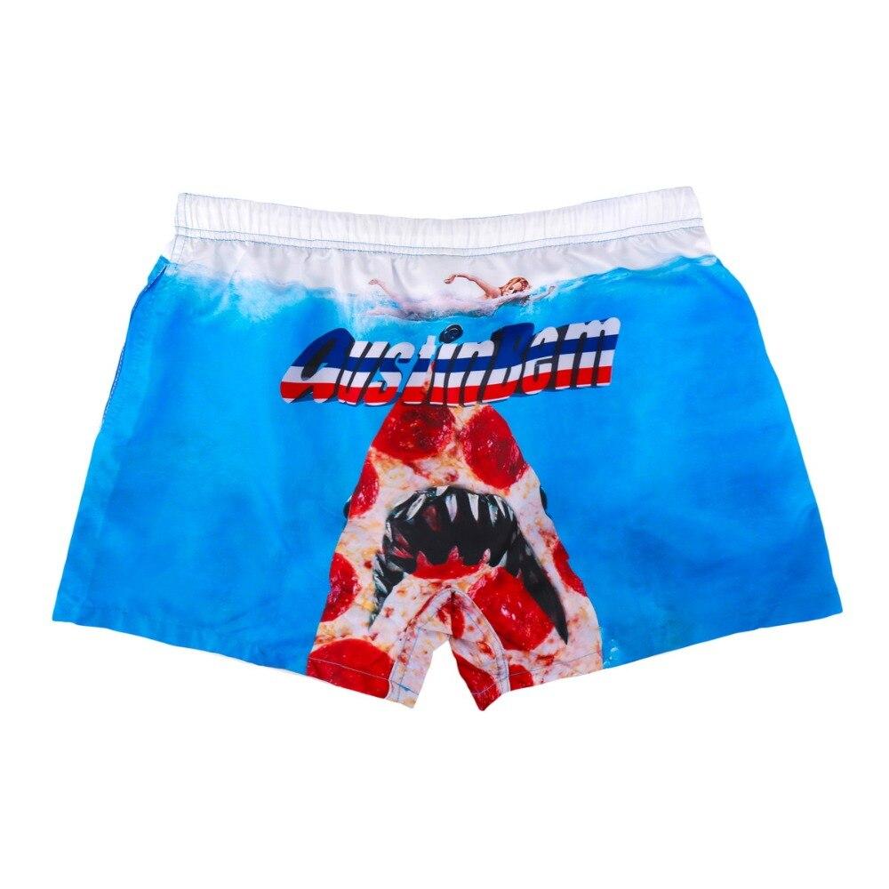 Для мужчин пляжные шорты полиэстер принт Акула девушка пляж купальники Для мужчин шорты пляжные шорты Мужские Шорты для купания бермуды ко...