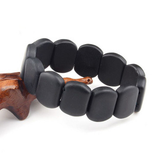 100% Real Natural Bianshi Byanshi Banichi Black Health Bracelets Black Bian Stone Healthy Jewelry for For Men and Women