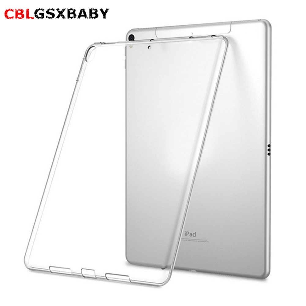 Silicon Case For <font><b>iPad</b></font> 5 6 <font><b>7</b></font> 8 <font><b>9</b></font> <font><b>Air</b></font> <font><b>1</b></font> <font><b>9</b></font>.7Inch <font><b>2018</b></font> Clear Transparent Case Soft TPU Back Cover Tablet Case For <font><b>iPad</b></font> <font><b>9</b></font>.<font><b>7</b></font> <font><b>2017</b></font> <font><b>2018</b></font> image