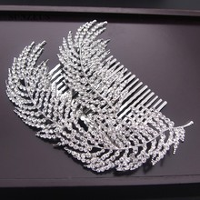 Stunning Beaded Bridal Comb Hair Accessories Leaf Sharp Gorgeous Decoration Headband SHA07
