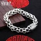 Alta calidad Beier 925 pulsera de plata de ley Cadena de eslabones de alto pulido Cadena de mano de moda SCTYL0128