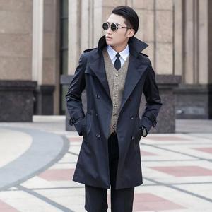 Весна 2020 Бизнес Тонкий сексуальный длинный Тренч мужской британский модный двубортный мужской Тренч пальто размера плюс 8XL 9XL