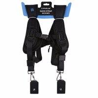 PULUZ Fashionable Durable Soft DSLR Professional K Pattern Camera Double Shoulder Strap Black Adjustable Belt PU6002