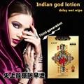 (3 pcs) autêntico deus Indiano loção wet wipes longo tempo de tratamento spray de atraso sexo para homens penis retardar a ejaculação prematura
