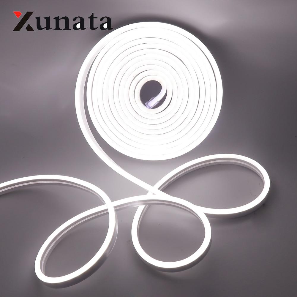 Dc 12 v tira de néon led luz tira impermeável smd 2835 120 leds/m flexível led luzes de néon para decoração de casa frete grátis