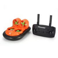Mirarobot RC car GV160 2.4G 7CH RC Boat Car Ground Effect Vehicle Speedboat Ship Model with 30km/h High Speed LED Version Gifts