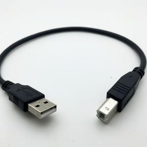 Image 3 - 30センチusb 2.0タイプaオスb男性(amへのbm)アダプタコンバータ短いデータケーブルコード用エプソンプリンタ黒