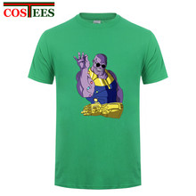 Fashion Cool Avengers Infinity War Thanos T shirts men Funny salt sprinkle turkish chef design Infinity Stone Bae T-shirts homme