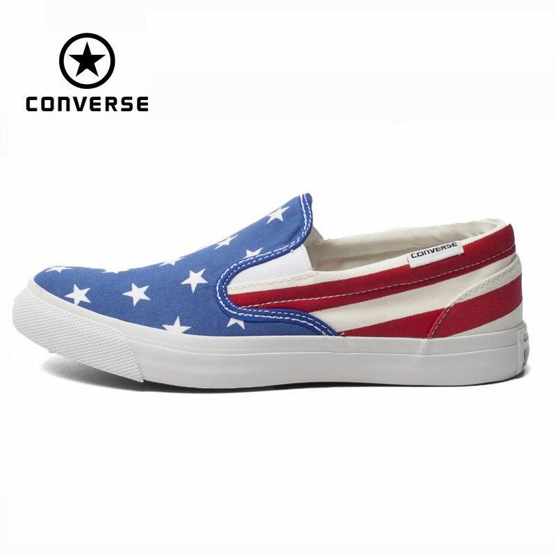 Первоначально конверс все звезды обувь национальный флаг цвет сшивание низкие женщин кроссовки холст обувь классические скейтбордингом о...