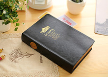 2Pcs/lot New Diary Notebook Gold Edge Note Book Super thick  Notepad Book Leather Cover  Notebook