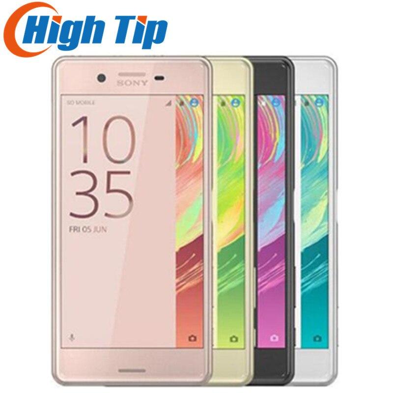 Débloqué Original Sony Xperia X Performance F8131 4g LTE RAM 3 gb ROM 32 gb Android 5.0 IPS 23MP WIFI 1080 p GPS Mobile Téléphone