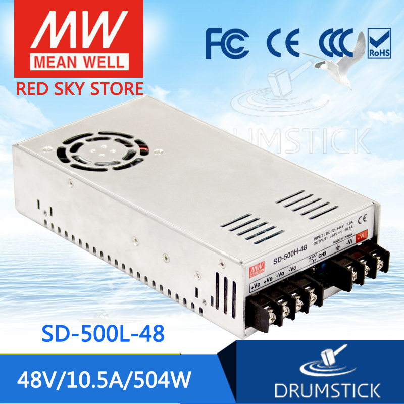 hot-selling MEAN WELL SD-500L-48 48V 10.5A meanwell SD-500 48V 504W Single Output DC-DC Converter [Real7] sd h1 500