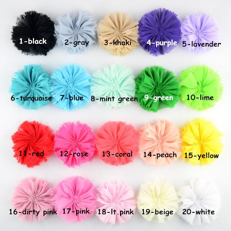 20pcs/lot , 3 inch ballerina flowers, fabric flower, shabby chiffon flowers