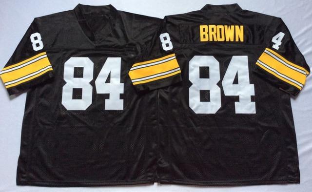new arrival 0feb3 3123e Logotipo bordado Antonio Brown 84 negro retroceso de fútbol jersey para  fans regalo barato 1108 19 en Jerseys del Balompié de américa de Deportes y  ...
