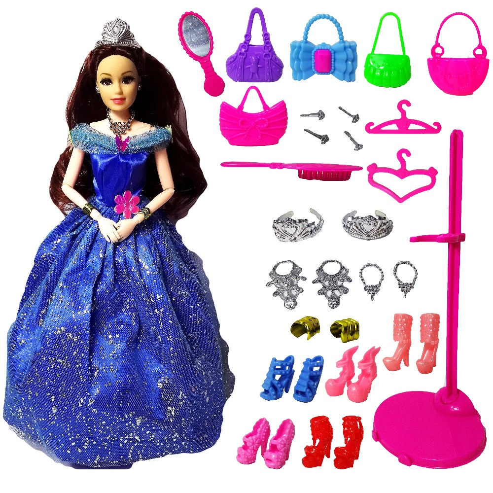 New Fashion Doll Partai Wedding Dress Barbie Dolls Gaya Baru Moveable - Boneka dan aksesoris - Foto 5