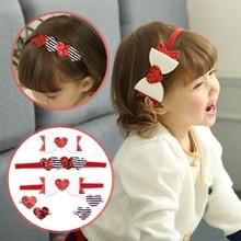 2019 Newest Baby Headband Infant Girls Glitter Red Peaches Heart Hairband Hairpins Kids Menina Head Bandage Hair Accessories