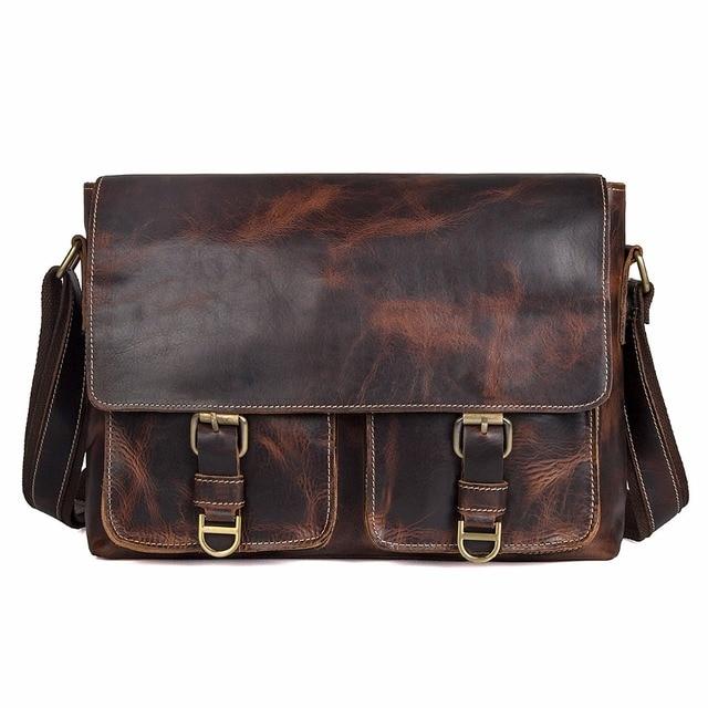 J.M.D  Guaranteed Genuine Leather Bag Crossbody Bag Flap Bag Messenger Bag For Business Men 1038Q