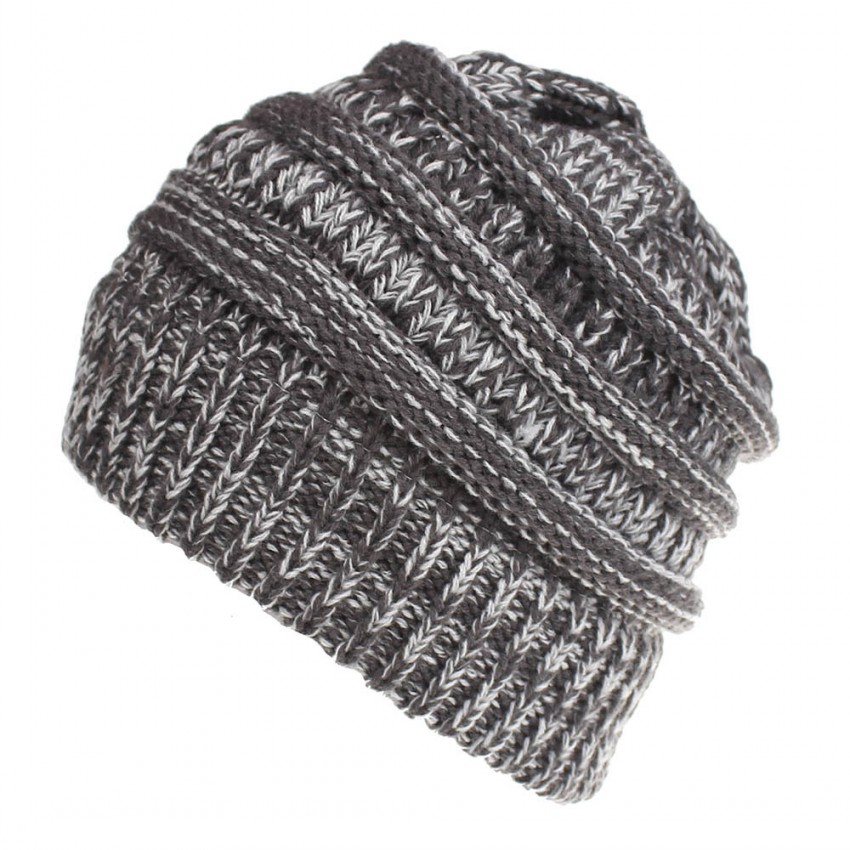 Chunky Soft Stretch Cable Knit Warm Fuzzy Lined Skull Beanie 100% Acrylic  Hats Men And Women